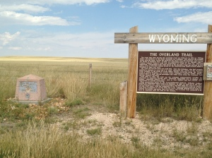The Overland Trail marker between Laramie and Centennial